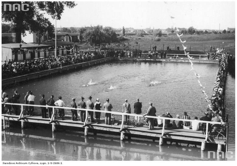 Zawody pływackie Poznań - Gdańsk - 1933 rok