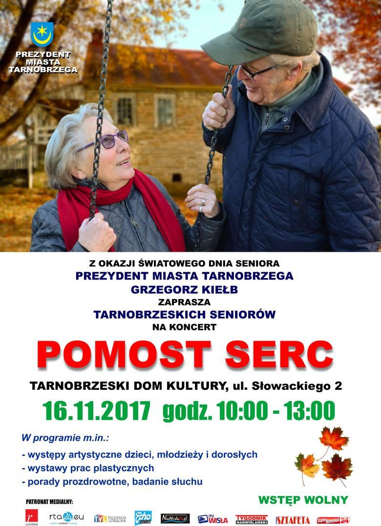 """Bezpłatny koncert dla seniorów  """"Pomost Serc"""" w Tarnobrzegu"""