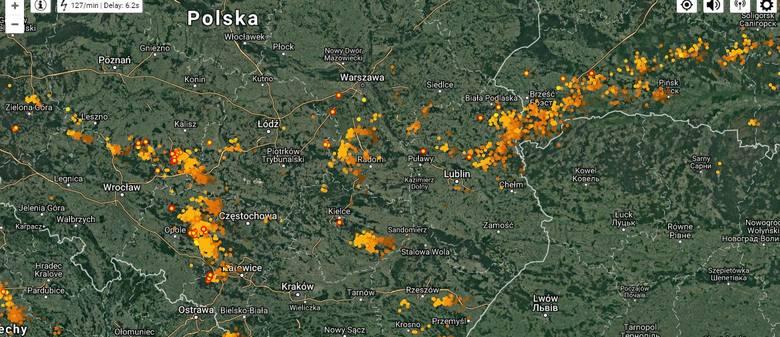 Gdzie jest burza? Radar burzowy online, aktualne mapy burzowe i ostrzeżenia IMGW