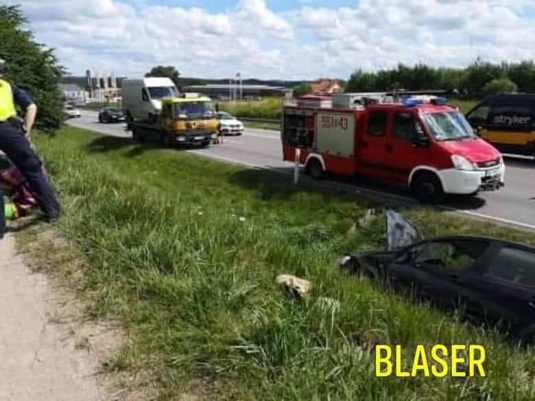 Dwie osoby ranne – to bilans wypadku do jakiego doszło 9.07.2020 r. w Gościcinie