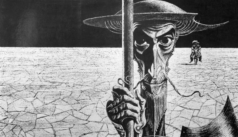 Ilustracja do Don Kichota autorstwa Sawy Brodskiego