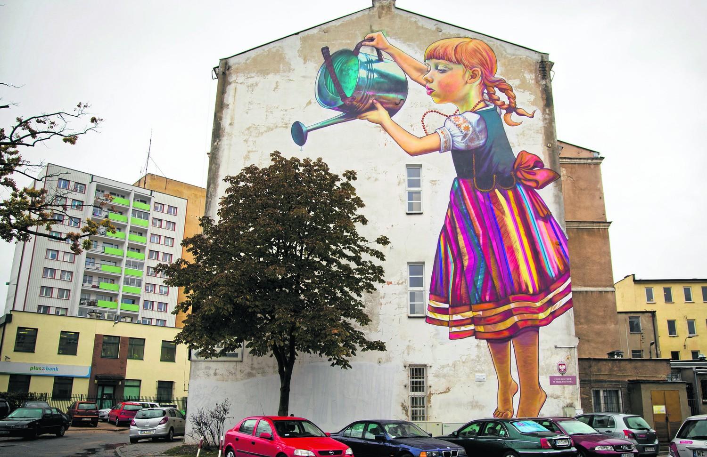 dziewczynka z konewk s ynny mural chroniony we wpisie
