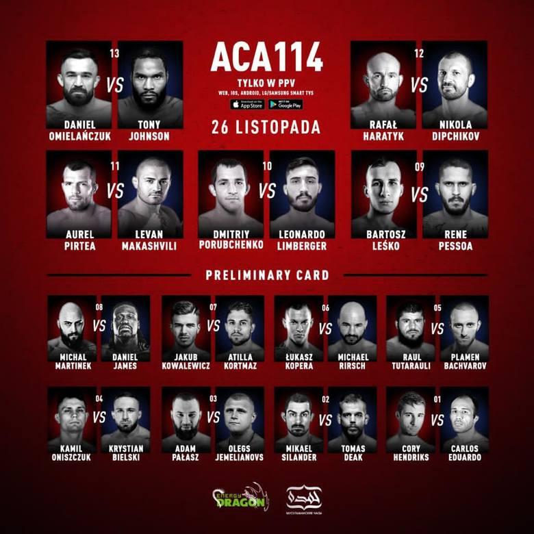 Znamy pełną kartę walk ACA 114. Gdzie obejrzeć czwartkową galę?