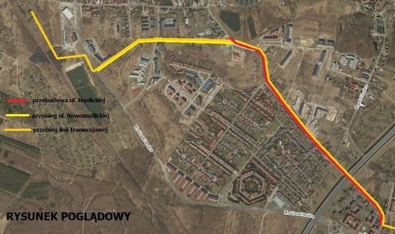 Powstała dokumentacja dotycząca budowy trasy tramwajowej na Maślice oraz przebudowy ulicy Maślickiej.