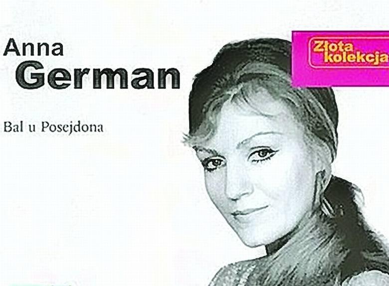 """Fragment okładki z albumu z przebojami Anny German """"Bal u Posejdona"""" (Pomaton), który w tym tygodniu uplasował się w pierwszej trójce najlepiej"""