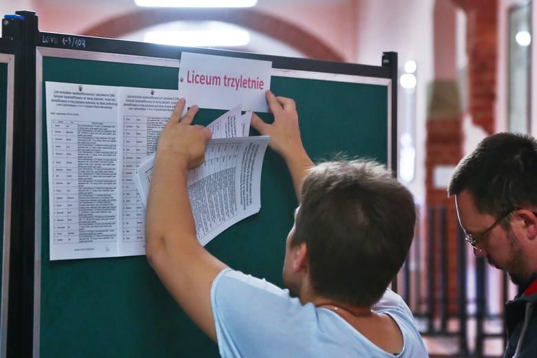 Listy osób przyjętych i nieprzyjętych do VII LO przy ul. Kruczej