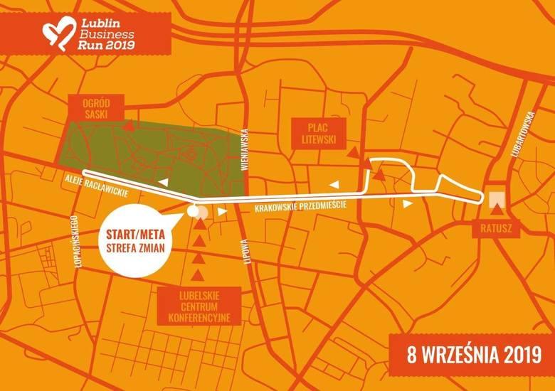 Lublin Business Run 2019 zamknie w niedzielę Al. Racławickie. Sprawdź trasę biegu