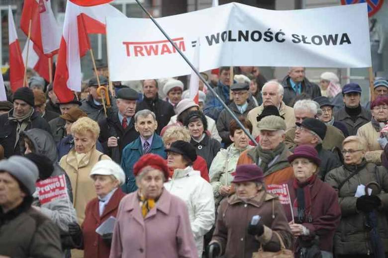 Nie oddamy wam Telewizji Trwam! Demonstracja w Opolu