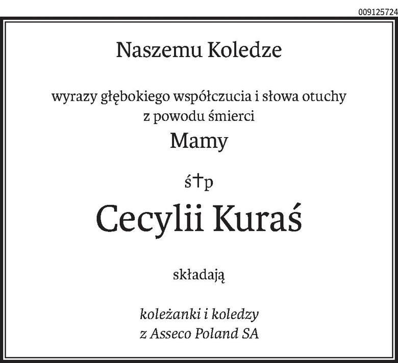 Nekrologi i kondolencje z dnia 28 maja 2019 roku