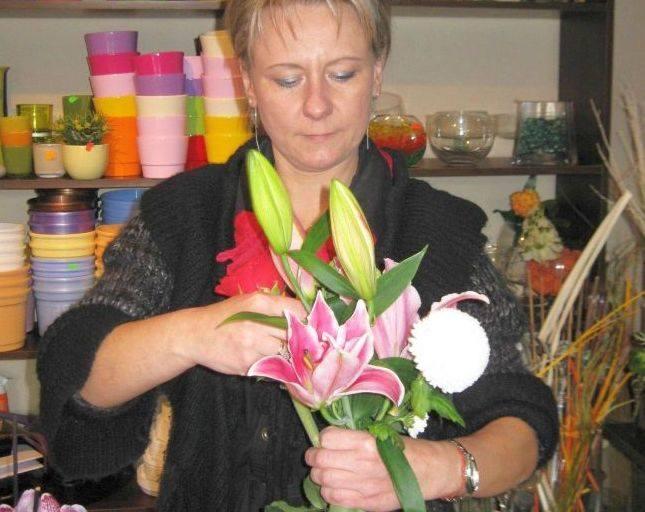 Milena Janakowska uwielbia układać kwiaty.