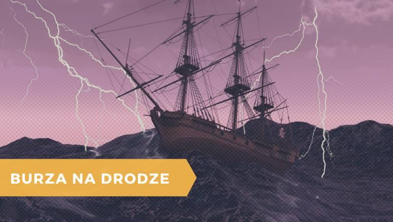 burza, statek, pioruny