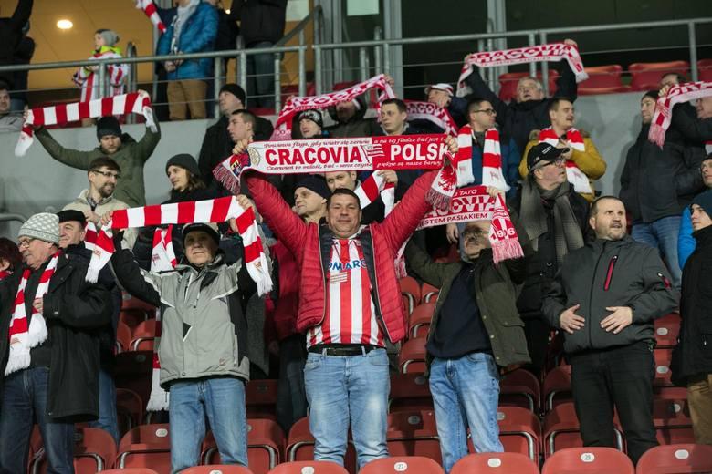 Kibice na meczu Cracovia- Piast Gliwice