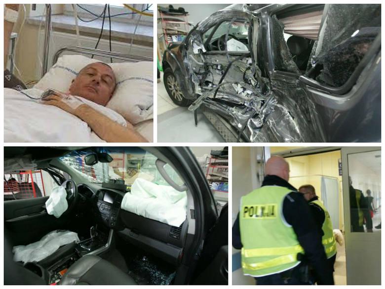 Rafał Dutkiewicz spowodował wypadek. Na zakazie wjazdu zderzył się z tramwajem. Prezydent w szpitalu