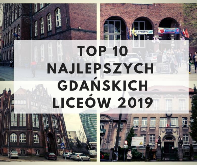 TOP 10 najlepszych liceów w Gdańsku 2019. Ranking gdańskich publicznych liceów ogólnokształcących wg. portalu WaszaEdukacja.pl [lista LO]