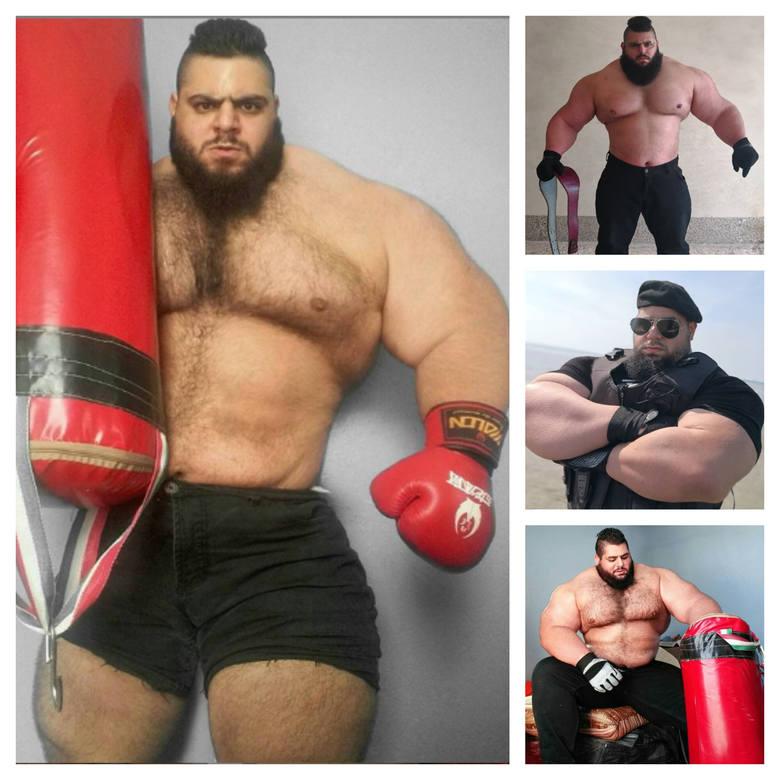 """27-letni Sajad Gharibi, znany szerzej jako """"Irański Hulk"""" lub """"Perski Herkules"""", spróbuje sił w sportach walki. Kulturysta,"""