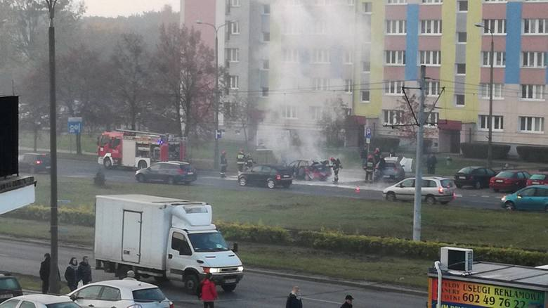 Na Kapuściskach spaliło się auto