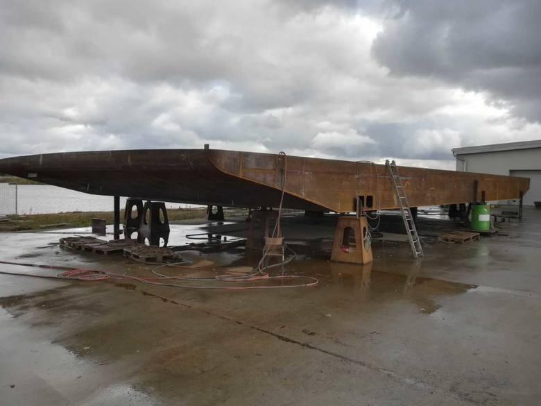 Techno-Marine z Malborka buduje kadłub promu, który będzie kursował na Wiśle na wysokości Solca Kujawskiego i Czarnowa