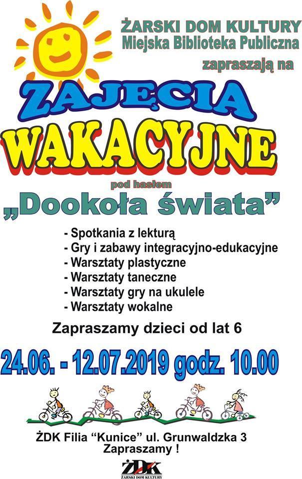 Zajęcia wakacyjne w filii ŻDK Kunice w Żarach.