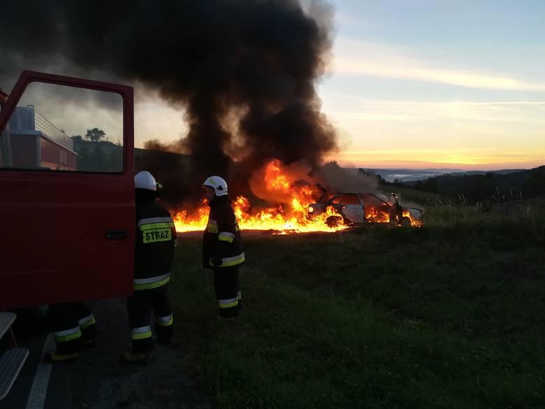 Adam Szpara z Czaszyna: cudem wydostałem się z płonącego samochodu [ZDJĘCIA]