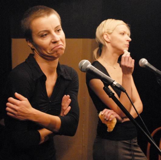 Magdalena Mleczak i Małgorzata Szapował z kabaretu Słoiczek Po Cukrze