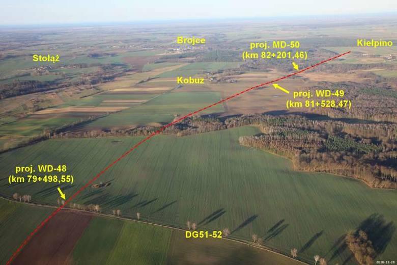 Zobacz zdjęcia lotnicze odcinka drogi S6 Goleniów – Kiełpino