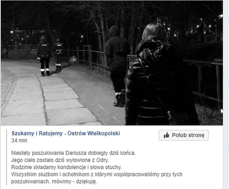 Ciało mężczyzny wyłowione z Odry przy Bulwarze Dunikowskiego. To prawdopodobnie poszukiwany Dariusz Góral (ZDJĘCIA)