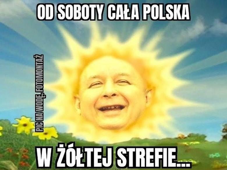 Żółta strefa w Polsce - najlepsze MEMY. Przesuwaj zdjęcia w prawo - naciśnij strzałkę lub przycisk NASTĘPNE >>>>