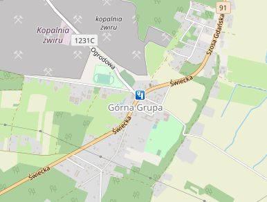 Miejscowość: Górna GrupaGmina: DragaczDroga: DK 91Dozwolona prędkość: 40 km/h