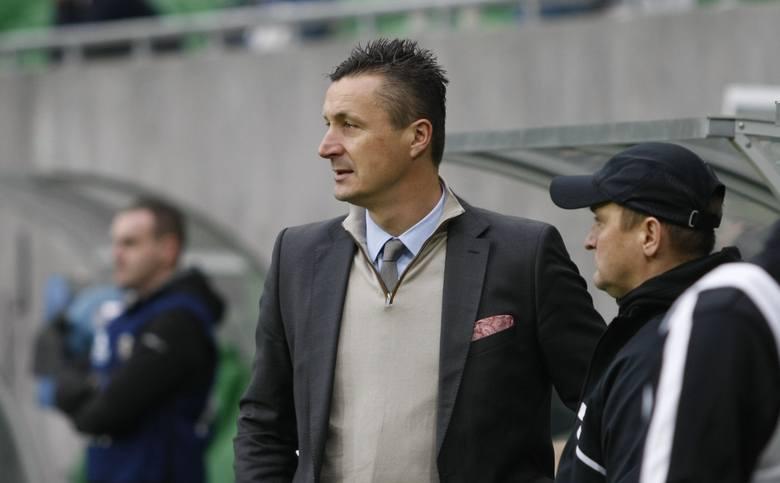 Trener Tomasz Hajto