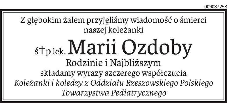 Nekrologi i kondolencje z dnia 9 maja 2019 roku