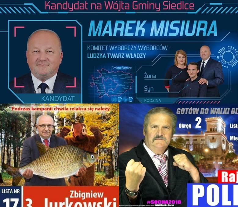 Wybory samorządowe 2018: Najśmieszniejsze i najdziwniejsze plakaty kampanii wyborczej.