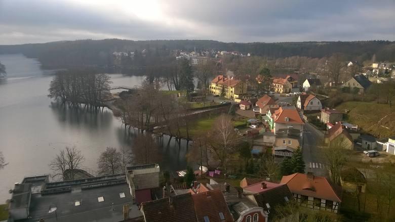 Widok w wieży Zamku Joannitów na Łagów.