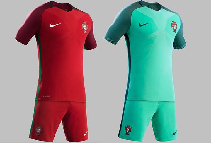 bd2c69bc4 Koszulki reprezentacji Portugalii – producentem strojów jest firma Nike.