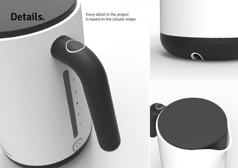 Wizualizacja czajnika w programie 3D