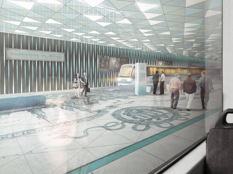 Tak według krakowskiego architekta Przemysława Tabora mógłby wyglądać przystanek metra przy Dworcu Głównym. Wizualizacja: Przemysław Tabor/URBAarchi