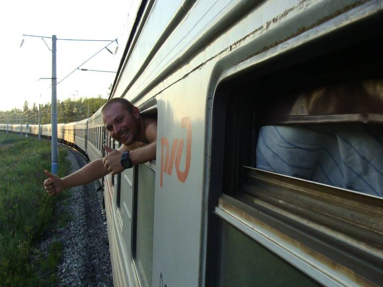 To też było jedno z marzeń Kajtka - podróż Koleją Transsyberyjską. Trwała cztery dni.