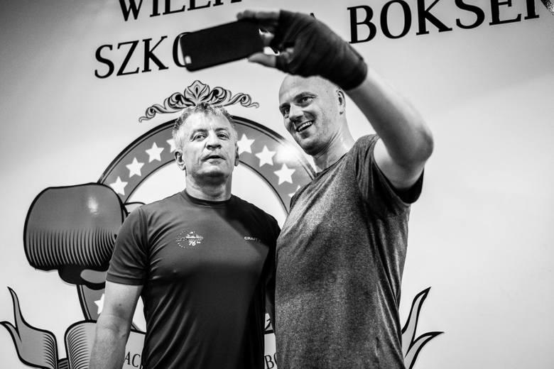 Jacek Jaśkowiak podczas przygotowań do walki z Przemysławem Saletą