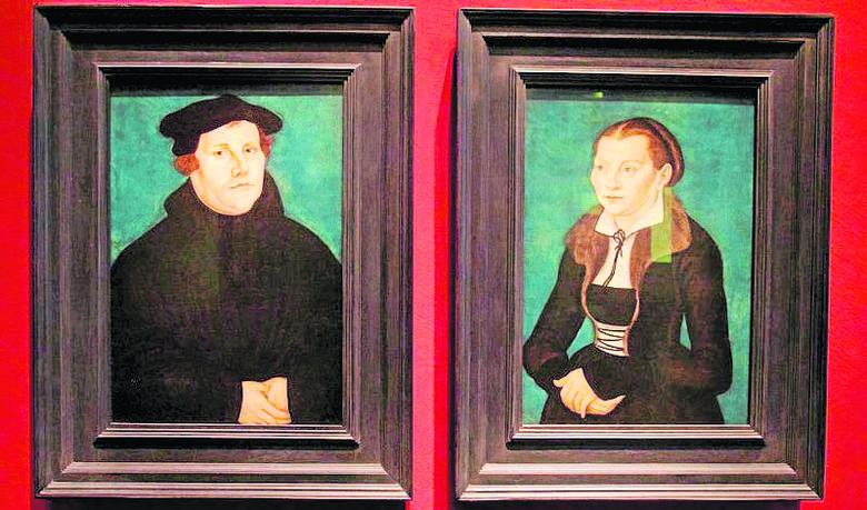 Kucas Cranach, portrety Marcina Lutra i jego żony, byłej mniszki Katharine von Bore