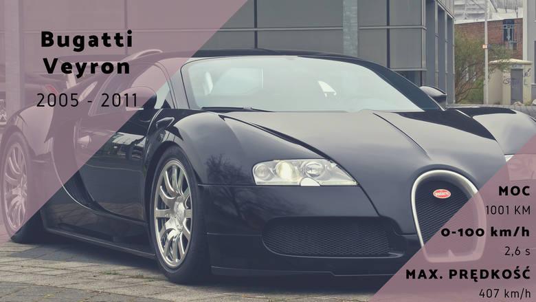 Obecność Bugatti Veyron w tym rankingu nikogo nie powinna zdziwić, ponieważ samochody tej marki są znane z niesamowitych osiągów. Veyron może rozpędzić