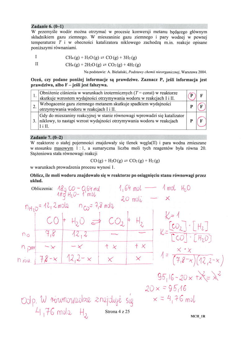 Matura 2019 rozszerzenie CHEMIA. Odpowiedzi i arkusz pytań. Jakie były zadania na rozszerzeniu z chemii 13.05.2019?
