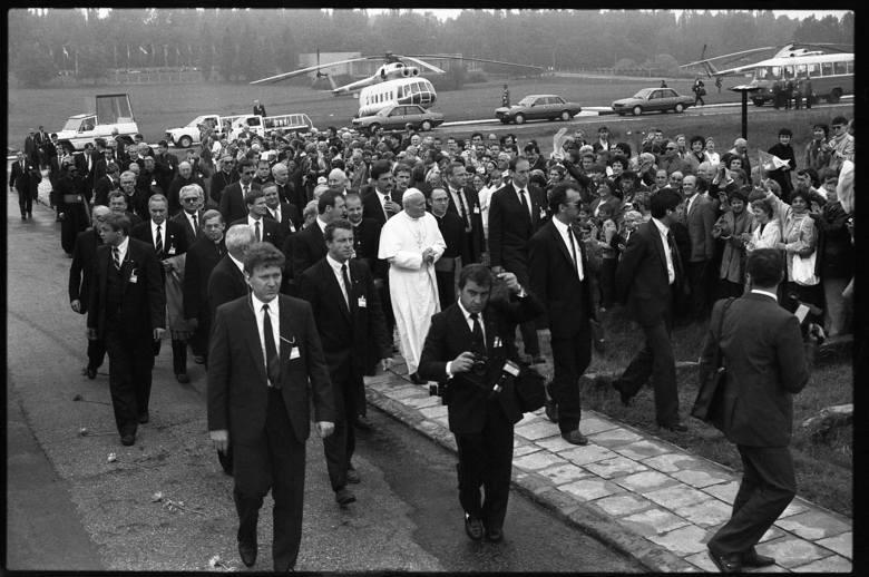 Wizyta papieża w Muzeum na Majdanku