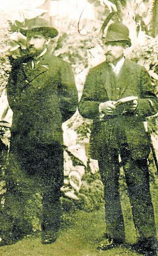 Władysław Bagiński z pierwszą żoną Anną, z którą ożenił się w marcu 1920 roku i miał dwoje dzieci: syna Zbyszka i córkę Barbarę