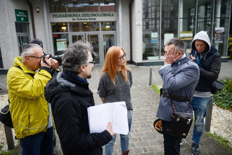 Pierwszy dzień plenerowego kręcenia filmu o Wydarzeniach Zielonogórskich (sobota, 8 kwietnia).