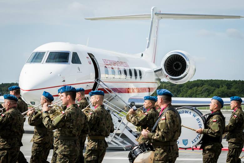 Samolot przyleciał do Bydgoszczy prosto ze Stanów Zjednoczonych.