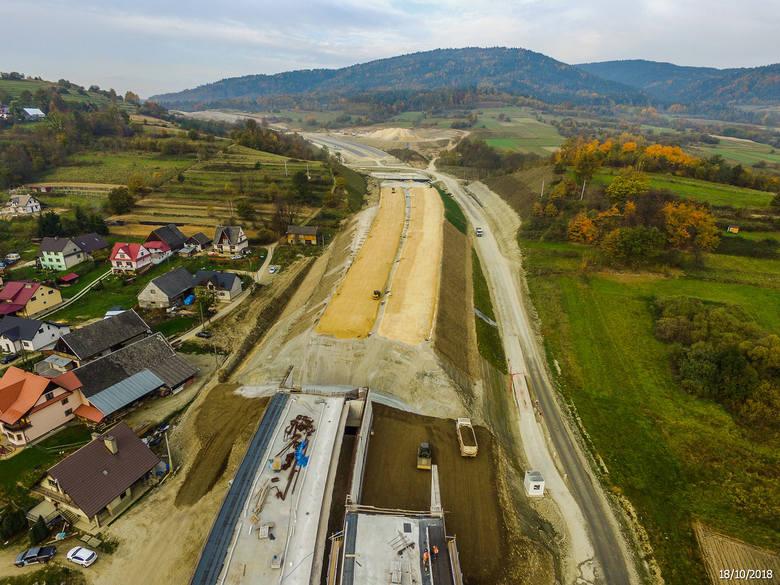 Budowa zakopianki - zdjęcia z października 2018