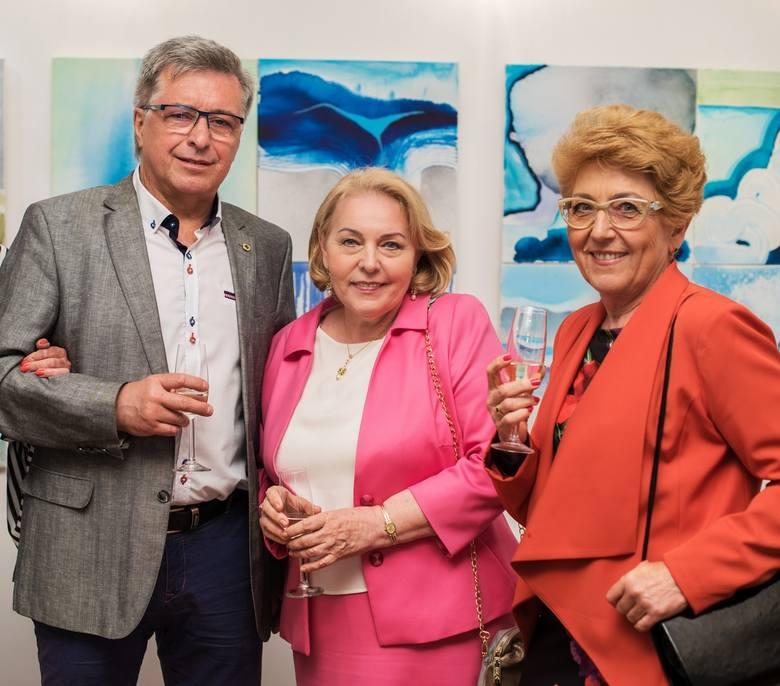Grzegorz Rozwarski  (Alfa), Anna Pawlik (Exmot) oraz Wiesława Witkowska.