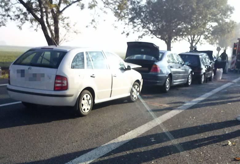 Wypadek na drodze krajowej 94 pomiędzy Suchą i Izbickiem.