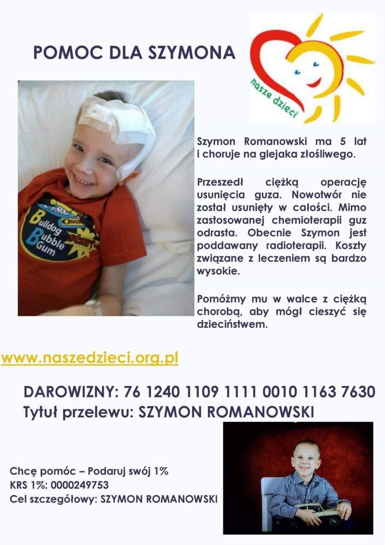 """Przecław: 5-letni Szymon Romanowski walczy z glejakiem mózgu. Akcja sąsiadów """"Gramy dla Szymona"""" już w piątek"""