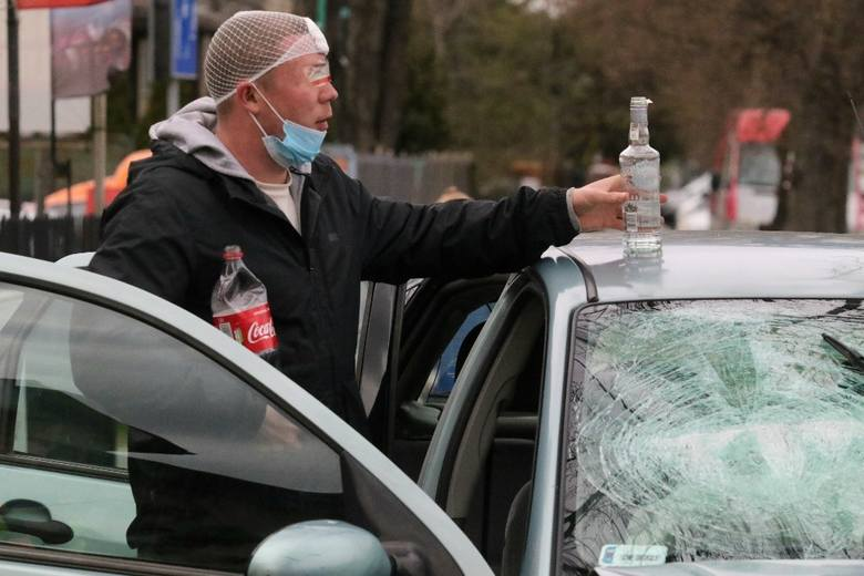 Wypadek na ul. Kochanowskiego 13.04.2021