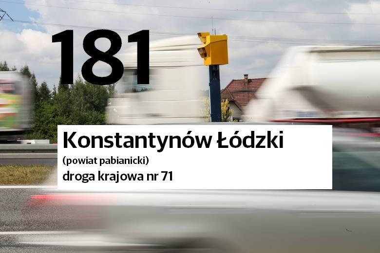 Lokalizacja i liczba zarejestrowanych naruszeń prawa drogowego. Dane za 2020 rok. Źródło: ITD/Centrum Automatycznego Nadzoru nad Ruchem Drogowym (CANARD).